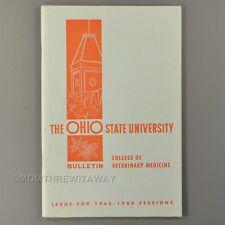 1963-64 THE OHIO STATE UNIVERSITY BULLETIN College of Veterinary Medicine