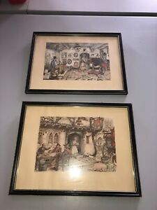 Anton Pieck Vintage 1970's Framed Prints