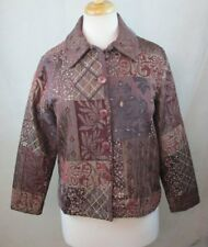 BARN FLY WOMENS SMALL JACKET BOHO TAPESTRY TEXTURED FLORAL PAISLEY WESTERN
