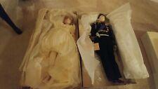 NIB Lady Diana & Prince Charles 19 inch Porcilan Dolls By Lady Ann Pristine Con.