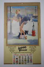 Original 1957 Art Frahm Pinup Advertising Calendar - Houston TX. Furniture Store