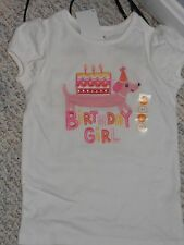 "NWT - Gymboree ""Birthday Girl"" short sleeved white & pink puppy top - 2T"