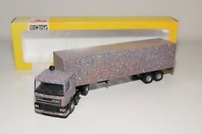 @. LION CAR DAF 95 TRUCK WITH TRAILER MULTICOLOR NEAR MINT BOXED