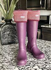 Hunter Rain Boots Purple Matte: Women's Original Tall 8 Med