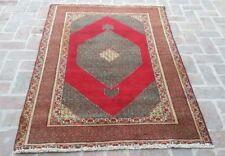 4'1 x 5'11 ft Handmade vintage persian tabriz wool antique oriental turkish rug