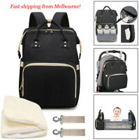 Large Size Diaper Bag Foldable Baby Crib Mummy Nappy Travel Backpack AU Stock