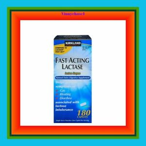Kirkland Signature Fast Acting Lactase 180 Caplets-Gas, Bloating and Diarrhea