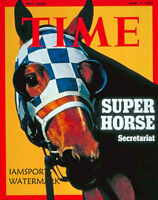 SECRETARIAT 1973 KENTUCKY DERBY WINNER MAGAZINE COVER HORSE RACE 8X10 PHOTO