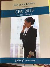 Practice Examss CFA 2013 Level III Volume I Kaplan Schweser