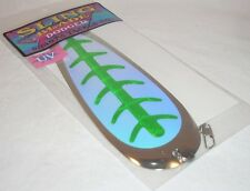 "Shasta Tackle #8 Sling Blade Dodger UV Green 9"" Fishing Lure"