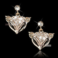 Crystal Rose Gold Plated Stud Fashion Earrings
