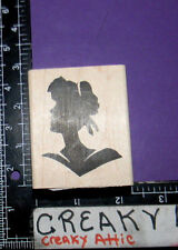 WOMANS FACE PROFILE SILHOUETTE RUBBER STAMP STAMPERS ANONYMOUS HOLTZ J1-1950