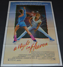 A NIGHT IN HEAVEN 1983 ORIGINAL MOVIE POSTER! MALE STRIPPER CHRISTOPHER ATKINS!
