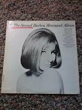 "1963 BARBARA STREISAND ""THE SECOND ALBUM"" VINTAGE VINYL RECORD ALBUM"