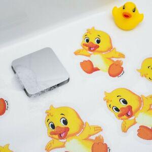 5x DUCK NON SLIP BABY BATH CHILD SAFETY TODDLER KIDS SHOWER MAT CARTOON STICKERS