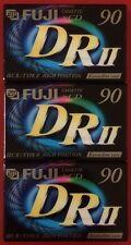 3 Fuji drii 90 Cromo Alta sesgo de TIPO II Cassettes Nuevo y Sellado