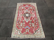 Old Shabbychic Hand Made Traditional Persian Rug Oriental Pink Wool Rug150x90cm