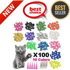 100 Pieces Cat Nail Caps/Tips Pet Cat Kitty Soft Claws Covers Safe & Comfortable