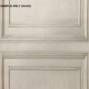 ** SAMPLE Wood Panelling Neutral Wallpaper