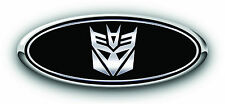 "2013 F150 3PC Kit  Transformers ""Decepticon"" Overlay Emblem Decal W NO /Camera"
