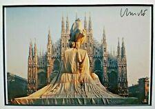 CHRISTO - Wrapped Monument to Vittorio Emanuele, Milan - SIGNED FRAMED RARE