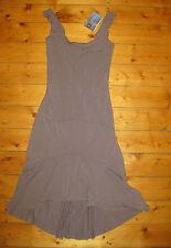 MAHA DEVI bamboo jersey ishtar dress NEW yoga hippie funky eco S BNWT grey