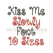 Kiss Me Slowly Alphabet Embroidery Fonts Machine Embroidery Design - IMPFCD47