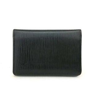 Louis Vuitton Epi Do Poche Black Leather Pass Card Case /C0352