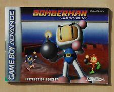 Manual Instructions Bomberman Tournament Game Boy Advance