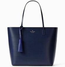 NWT Kate Spade Karla Blue Sapphire Smooth Leather Tote Wright Pl. WKRU4706 $299