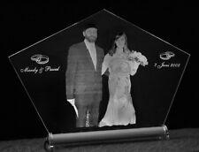 Aufsteller Hochzeit Fotogravur mit Ihrem Foto +Text - Geschenk Brautpaar