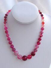 rosa Pink Collana in Pietra dura AGATA Naturale,cristalli da donna ,