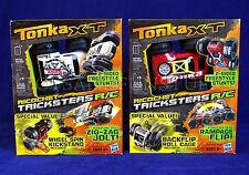 New 2 RICOCHET TRICKSTER R/C CARS - Zig-Zag Jolt & Rampage Flip TONKA XT Stunts