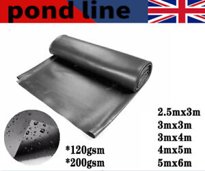 Garden Fish Pond Liners Liner Pool HDPE Membrane Reinforced Landscaping 5 sizes