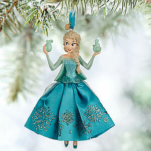 Disney ELSA FROZEN 2015 SKETCHBOOK CHRISTMAS ORNAMENT NIB