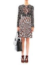 $485 Diane von Furstenberg DVF Runway Freddie Combo Vicuna & Chain Wrap Dress 6