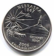 Nebraska Chimney Rock National Park State Quarter 2006 P Coin Philadelphia Mint