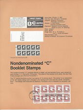 20c C BOOKLET PANE OF TEN 1981 SOUVENIR PAGE SCOTT # 1948a SP572 REGULAR ISS FDC