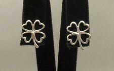 Boucles d'oreilles en argent sterling Trèfles Solide 925 Nouveau e000361