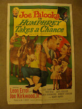 Humphrey Takes A Chance theatrical poster 50/415 Joe Palooka