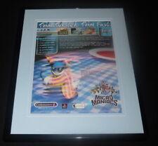 Micro Maniacs 2000 Playstation Framed 11x14 ORIGINAL Advertisement