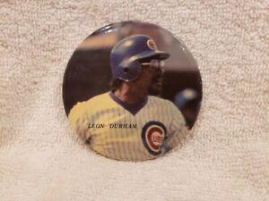 VINTAGE 1984 Leon Durham 3 Inch MLB Photo Button, Chicago Cubs, VERY NICE!!