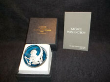 Franklin Mint Cameo In Crystal Great Leaders In History George Washington & Box