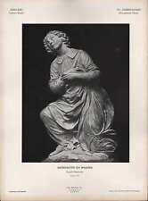 BERGAMO, Lithografie: XV. Jh Florent. Schule Engel-Statuette Benedetto da Majano