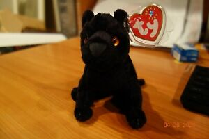 """Ty Beanie Babies """"MIDNIGHT"""" the Black Panther MWMT Comes with Tag Protector"""
