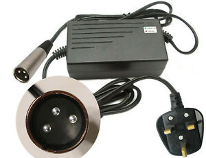 2A 2 AMP 24V MOBILITY SCOOTER CHARGER 240V 3 PIN PLUG - XLR3