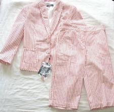 ALEXANDER MCQUEEN McQ Red White Cotton Stripe Blazer Shorts Suit 40 4