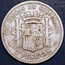 1870 DE M Spain Governo Provizorio 2 Pesetas