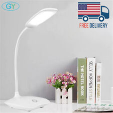 Dimmable LED Desk Light Table Bedside Reading Lamp Touch Sensor USB Rechargeable