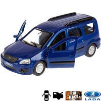 1:36 Scale Diecast Metal Model Car Lada Largus VAZ Blue Die-cast Toy